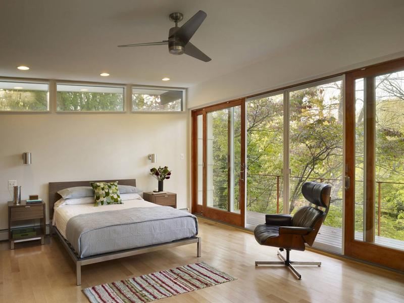 mid-century modern guest suite